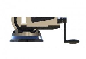 طراحی و مدلسازی گیره رومیزی زاویه دار دوطرفه با سالیدورک