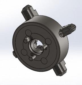طراحی و مدلسازی چهار نظام دستگاه تراش با سالیدورک