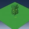 شبیه سازی سقوط و ریزش بلوک در بازی جنگا با آباکوس