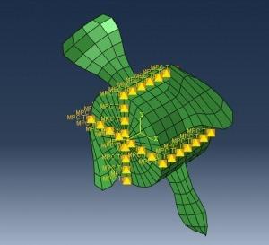 شبیه سازی تغییر شکل پره توربین با آباکوس