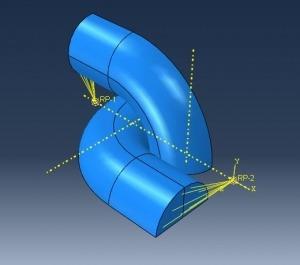 مدلسازی و تحلیل کشش در زنجیر با آباکوس