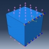 شبیه سازی رشد ترک در یک مکعب آلومینیومی با آباکوس