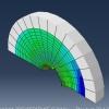 شبیه سازی برخورد جسم صلب با صفحه فولادی با آباکوس