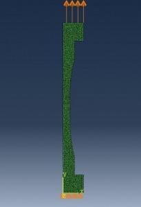 شبیه سازی تست کشش محوری با آباکوس