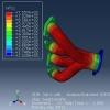 شبیه سازی انتقال حرارت در منیفولد اگزوز با آباکوس