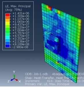 شبیه سازی انتقال حرارت یک قطعه در برد الکترونیکی با آباکوس