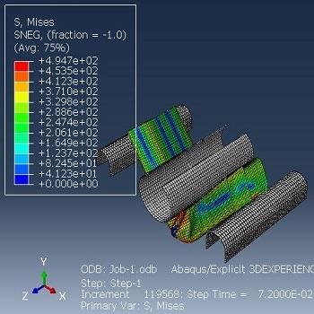 شبیه سازی تغییر شکل پلاستیک پروفیل آلومینیوم تحت خمش سه نقطه ای با آباکوس