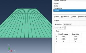 شبیه سازی محاسبه سطح phreatic در یک سد خاکی با آباکوس
