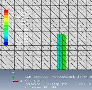شبیه سازی رشد ترک در یک تیر تحت خمش سه نقطه ای با آباکوس