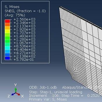 شبیه سازی شکست ورق چند لایه کامپوزیت آلومینیوم دارای شیار کلیدی با آباکوس