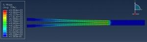 شبیه سازی رفتار گسیختگی در تیر دو کناف با آباکوس