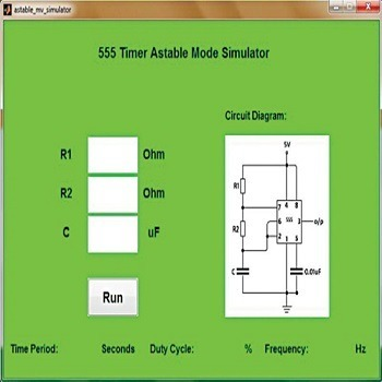 شبیه سازی نوسان ساز با آی سی تایمر ۵۵۵ با متلب