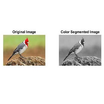 شبیه سازی قطعه بندی رنگ تصویر با متلب