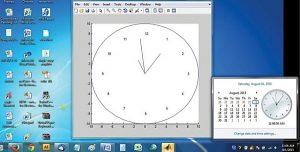 شبیه سازی ساعت آنالوگ با متلب
