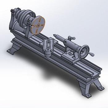 طراحی و مدلسازی دستگاه تراش رومیزی با سالیدورک