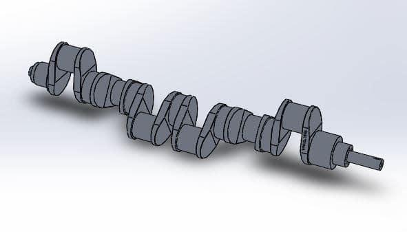 طراحی و مدلسازی میل لنگ با سالیدورک