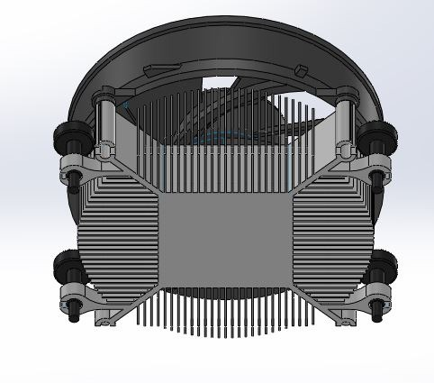 طراحی و مدلسازی فن خنک کننده CPU با سالیدورک