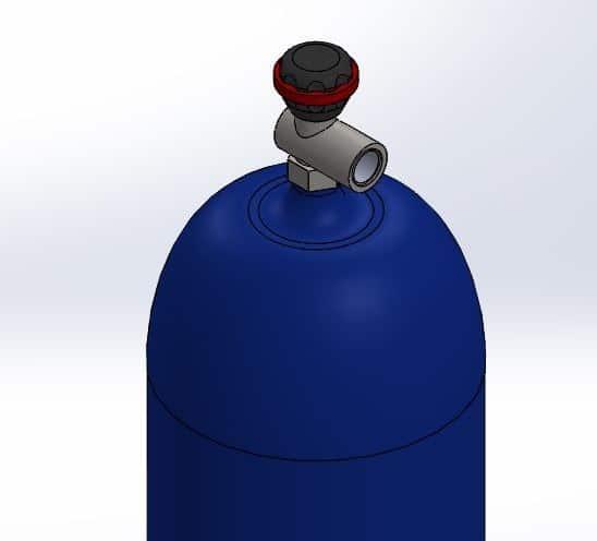 طراحی و مدلسازی کپسول گاز با سالیدورک