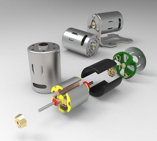 طراحی و مدلسازی موتور 12 ولت DC با سالیدورک