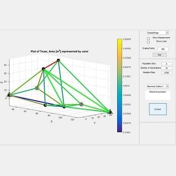 شبیه سازی حل خرپا با الگوریتم ژنتیک با متلب