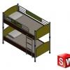 طراحی و مدلسازی تخت خواب دو طبقه با سالیدورک