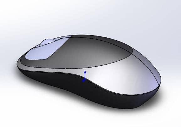 طراحی و مدلسازی موس کامپیوتر با سالیدورک