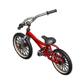 طراحی و مدلسازی دوچرخه با سالیدورک