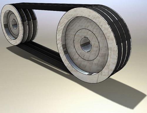 طراحی و مدلسازی تسمه و پولی با سالیدورک
