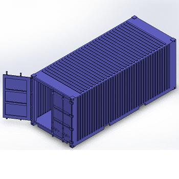 طراحی و مدلسازی کانتینر 20 فوت با سالیدورک