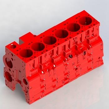 طراحی و مدلسازی بلوک سیلندر موتور با سالیدورک