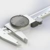 طراحی و مدلسازی کولیس ساعتی با سالیدورک
