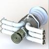 طراحی و مدلسازی توربین گازی با سالیدورک