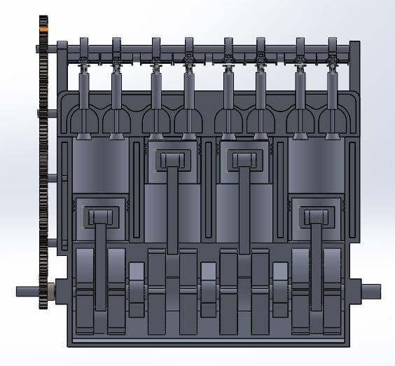 طراحی و مدلسازی موتور درون سوز با سالیدورک