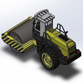 طراحی و مدلسازی غلطک راهسازی با سالیدورک