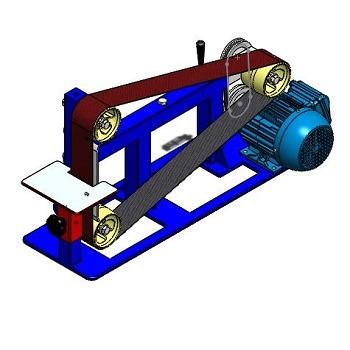 طراحی و مدلسازی دستگاه سنباده نواری با سالیدورک