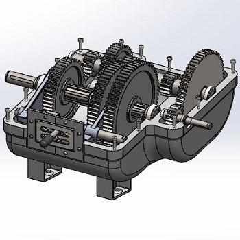 طراحی و مدلسازی گیربکس با سالیدورک