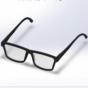 طراحی و مدلسازی عینک طبی با سالیدورک