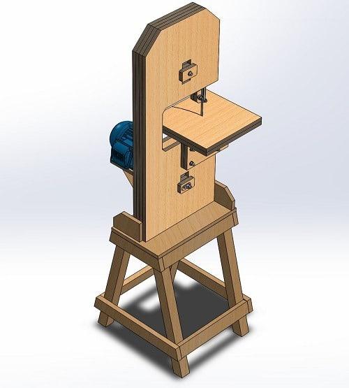 طراحی و مدلسازی اره نواری چوب با سالیدورک