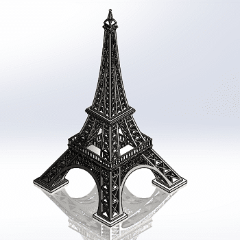 طراحی و مدلسازی برج ایفل با سالیدورک