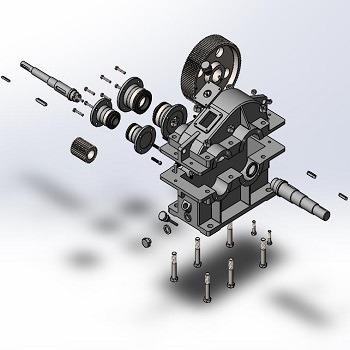 طراحی و مدلسازی گیربکس کاهنده با سالیدورک