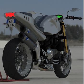 طراحی و مدلسازی موتور سیکلت دوکاتی با سالیدورک