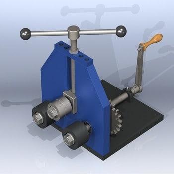 طراحی و مدلسازی دستگاه خم تسمه با سالیدورک