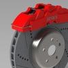 طراحی و مدلسازی ترمز دیسکی با سالیدورک