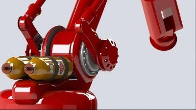 طراحی و مدلسازی ربات هیدرولیکی با سالیدورک