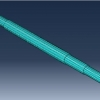 شبیه سازی شفت دوار تحت بارگذاری با آباکوس
