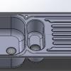 طراحی و مدلسازی سینک ظرفشویی با سالیدورک