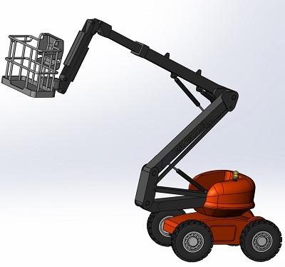 طراحی و مدلسازی ماشین بالابر با سالیدورک