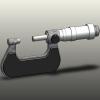 طراحی و مدلسازی میکرومتر ورنیه دار با سالیدورک