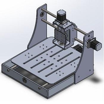 طراحی و مدلسازی CNC رومیزی (Mini Desktop CNC) با سالیدورک