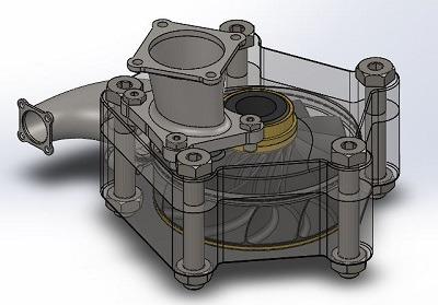 طراحی و مدلسازی پمپ با سالیدورک